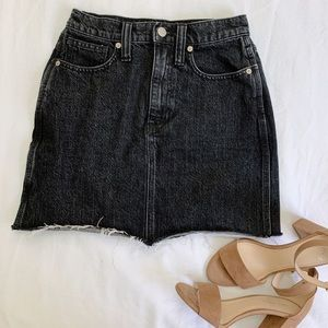 Madewell Vintage Black Denim Skirt